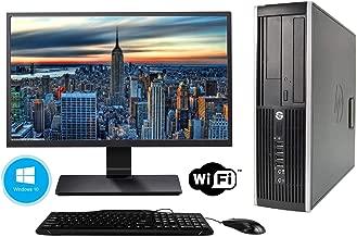 HP Elite 8300 SFF Desktop - Intel Core i5 3470 3.2Ghz 16GB DDR3 RAM, 240GB SSD and Windows 10 Professional - WiFi Ready - New 27 Inch Monitor (Certified Refurbished)