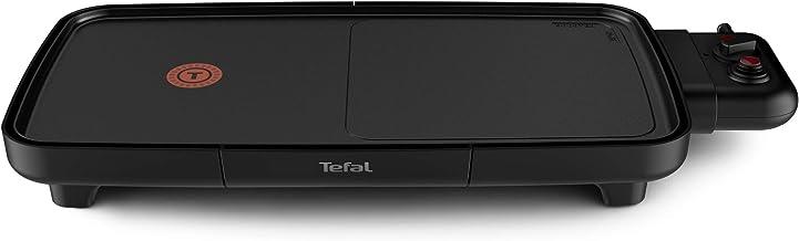 Tefal Plancha Booster Plancha électrique, 2200 W, 2 zones de cuisson, Thermostat réglable, Large surface de cuisson, Revêt...