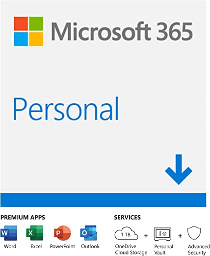 Microsoft 365 Personal |Email delivery in 1 hour| 12-Month Subscription, 1 person | Premium Office apps | 1TB OneDrive cloud storage | Windows/Mac 1