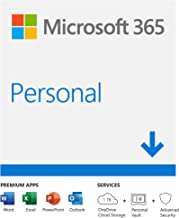 Microsoft 365 Personal |Email delivery in 1 hour| 12-Month Subscription, 1 person | Premium Office apps | 1TB OneDrive cloud storage | Windows/Mac
