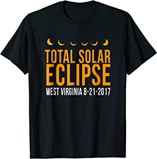 Total Solar Eclipse West Virginia 8-21-2017 funny t-shirt