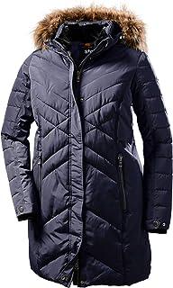STOY Wmn Quilted Prk D Parka con aspecto de plumón y capucha desmontable. Mujer