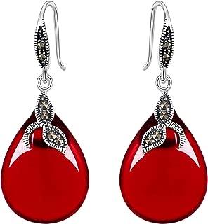 Best red stone earrings Reviews