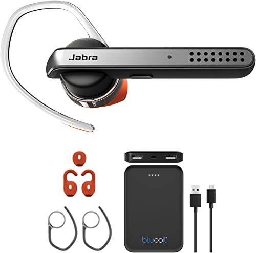 popular Jabra new arrival high quality Talk 45 Bluetooth in-Ear Headset with Dual Mic Noise Cancellation for Android and iOS Bundle with Blucoil 5000mAh Portable Power Bank outlet online sale