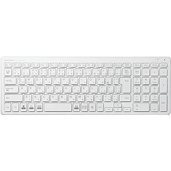 エレコム キーボード ワイヤレス (レシーバー付属) パンタグラフ コンパクトキーボード ホワイト TK-FDP099TWH