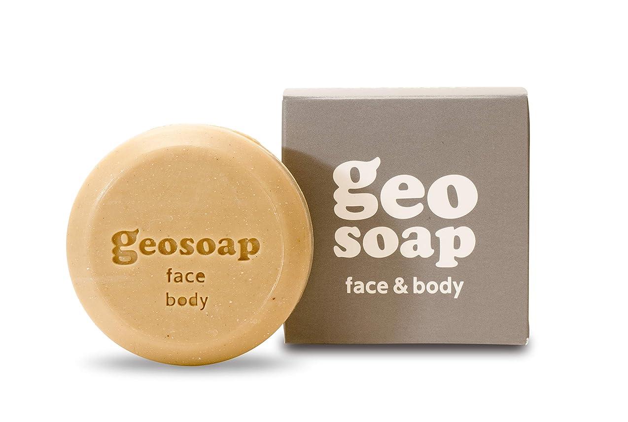 代わって隔離人差し指geosoap(ジオソープ) face&body(フェイス&ボディ) フェイス?ボディ 固形ソープ 117g