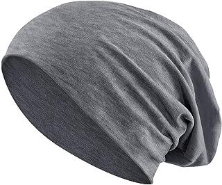 Jersey di Cotone Elastico Lungo Slouch Beanie Uomo & Donna Unisex Berretto Heather in 35 Vari Colori (3)