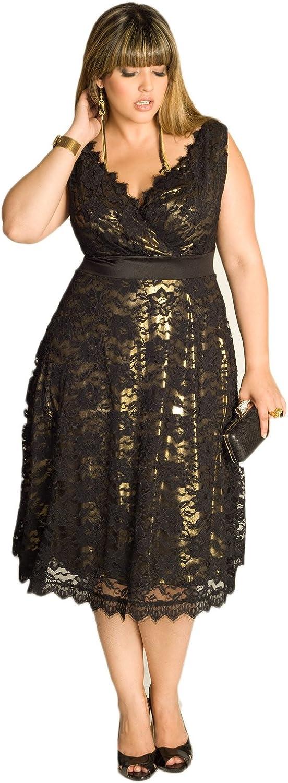 AK Beauty Women's Lace Plus Size Evening Prom Dress