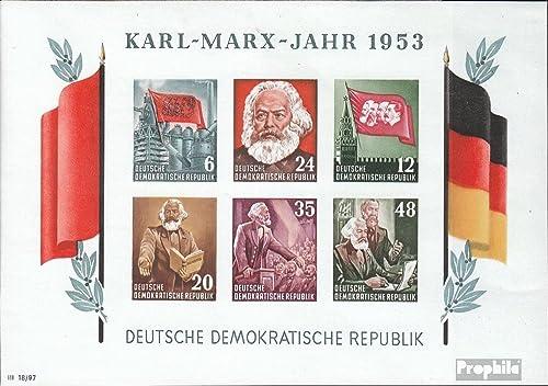 Ahorre 60% de descuento y envío rápido a todo el mundo. Prophila Collection DDR (RDA) Bloque 8b 1953 1953 1953 Karl-Marx-año (sellos para los coleccionistas)  comprar ahora
