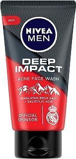 NIVEA Men Facewash, Deep Impact Acne, With Himalayan Rock Salt, 50 Gm