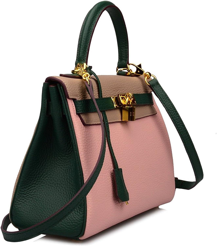 Dapengzhu Women's Padlock Shoulder Handbags Hobo Bag Green Taupe Pink28 cm Hot sell