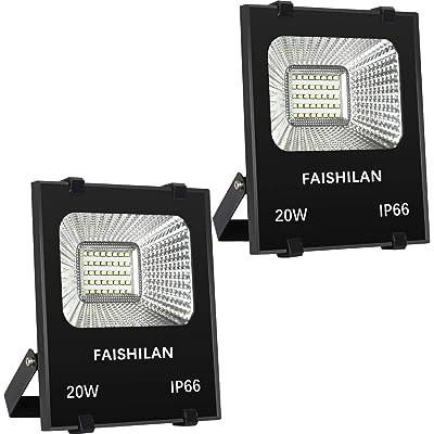 FAISHILAN 2Pack 20W LED Flood Light, Outdoor IP...