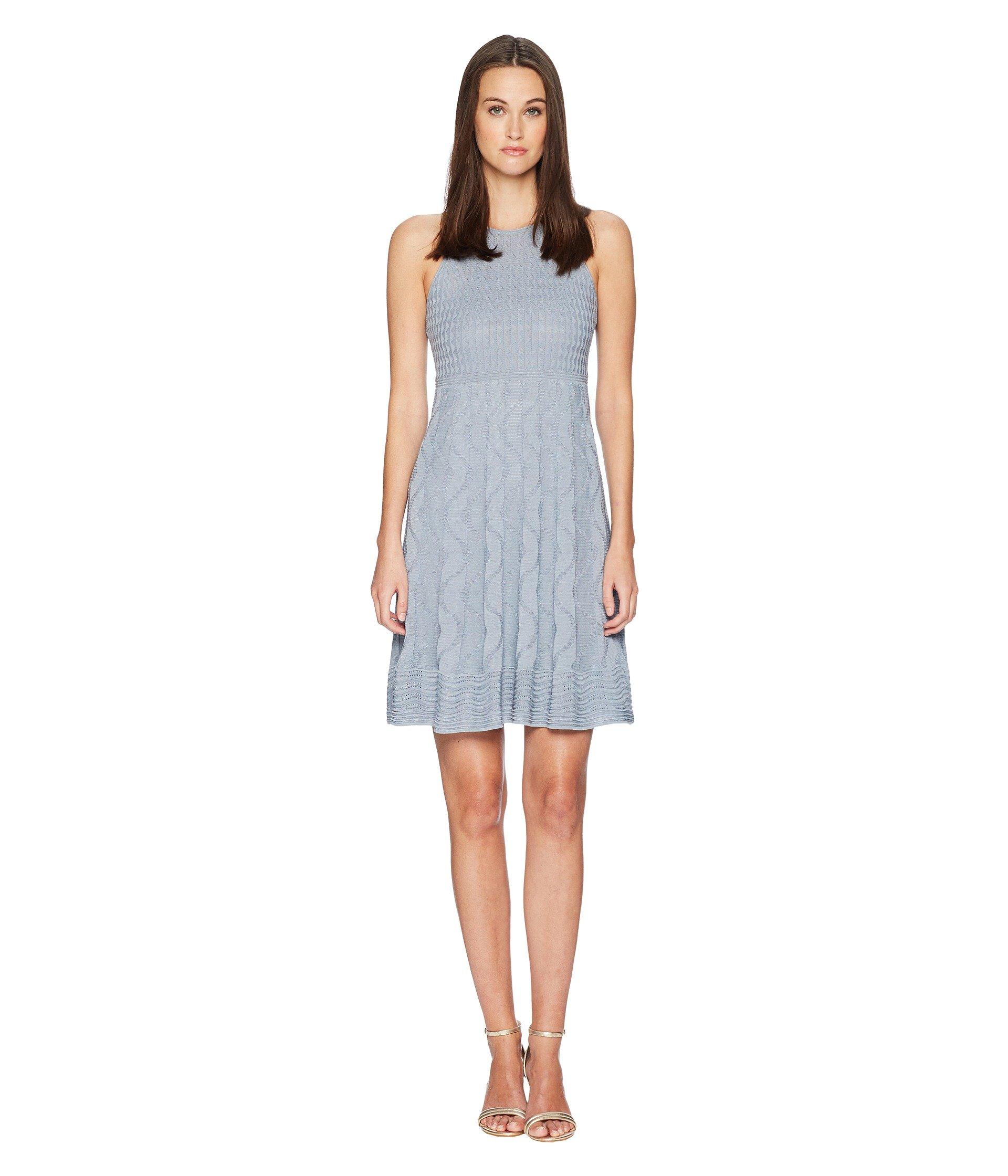 M Knit Missoni Gray Solid Dress OqXwRZ