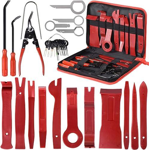 30PCS Outils pour Garnitures Outils Démontage Installation Garniture Intérieure Outils pour Garnitures Panneau de Por...
