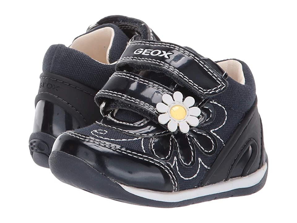 Geox Kids B Each Girl 25 (Infant/Toddler) (Navy/White) Girl
