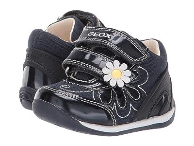 Geox Kids B Each Girl 25 (Infant/Toddler) (Navy/White) Girl