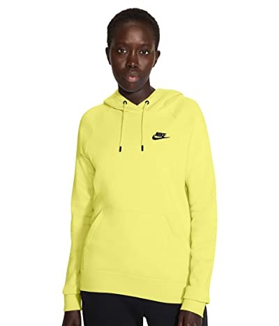 Nike NSW Essential Hoodie Pullover Fleece (Light Zitron/Black) Women