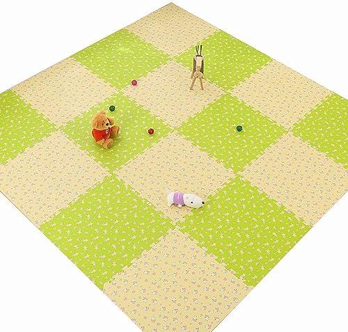 HLMIN Tapis De Puzzles Jigsaw Tapis De Jeu for Bébé avec Tapis d'exercice for Tout-Petits, Bébé en Mousse EVA - SGS, TUV, Atteindre La Sécurité (9 Tailles) (Couleur   A, Taille   60×60×1cm(9PC))