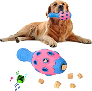 Tough Dog Chew Toys for Aggressive Chewers Large Breed Small Breed, Treat Dispensing Dog Puzzle Toy, Interactive Dog Squea...