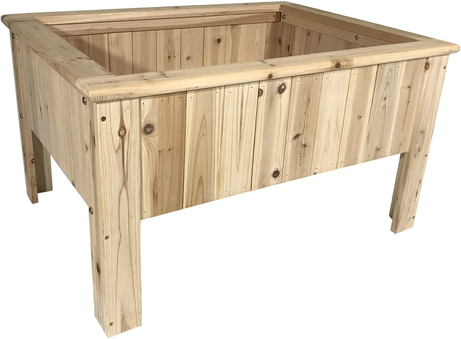 Cedar A surprise price is realized Raised Garden Planter Box Kit Elevated Bed Outdoor V Patio online shop