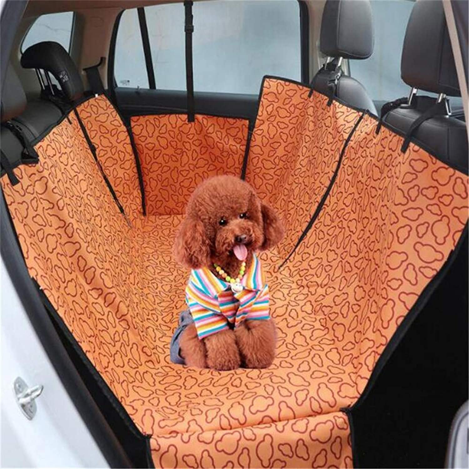 QZQWANA Pet Car Seat Covers Pet Carriers Oxford Fabric Waterproof Back Bench Seat Car Seat Covers Mat Safer Car Travel Accessories
