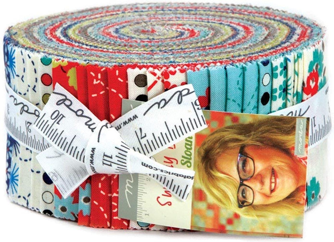 Pat Sloan Sunday Drive Prints Jelly Roll 40 2.5-inch Strips Moda Fabrics 43070JR