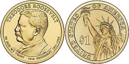 2013 P&D Theodore Roosevelt Presidential Dollar Set