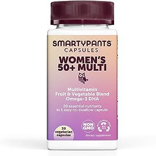 SmartyPants Multivitamin for Women 50+; Omega-3 DHA; Zinc for Immunity; Vitamins D3, C, B6;...