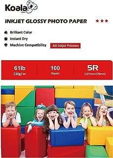 Koala High Glossy Inkjet Photo Paper 5x7 Inches 100 Sheets 230gsm for Inkjet Printing