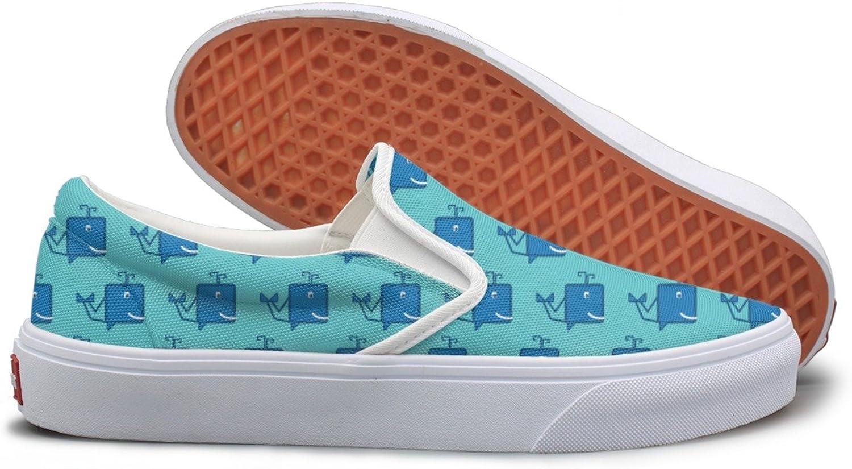 bluee Cartoon Whale Running Sneakers For Women