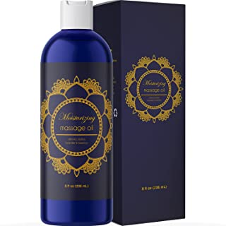 Pure Sensual Massage Oil Stress Reliever for Women and Men with Essential Oils Lavender Oil Rosemary Oil Jojoba Oil Sweet ...