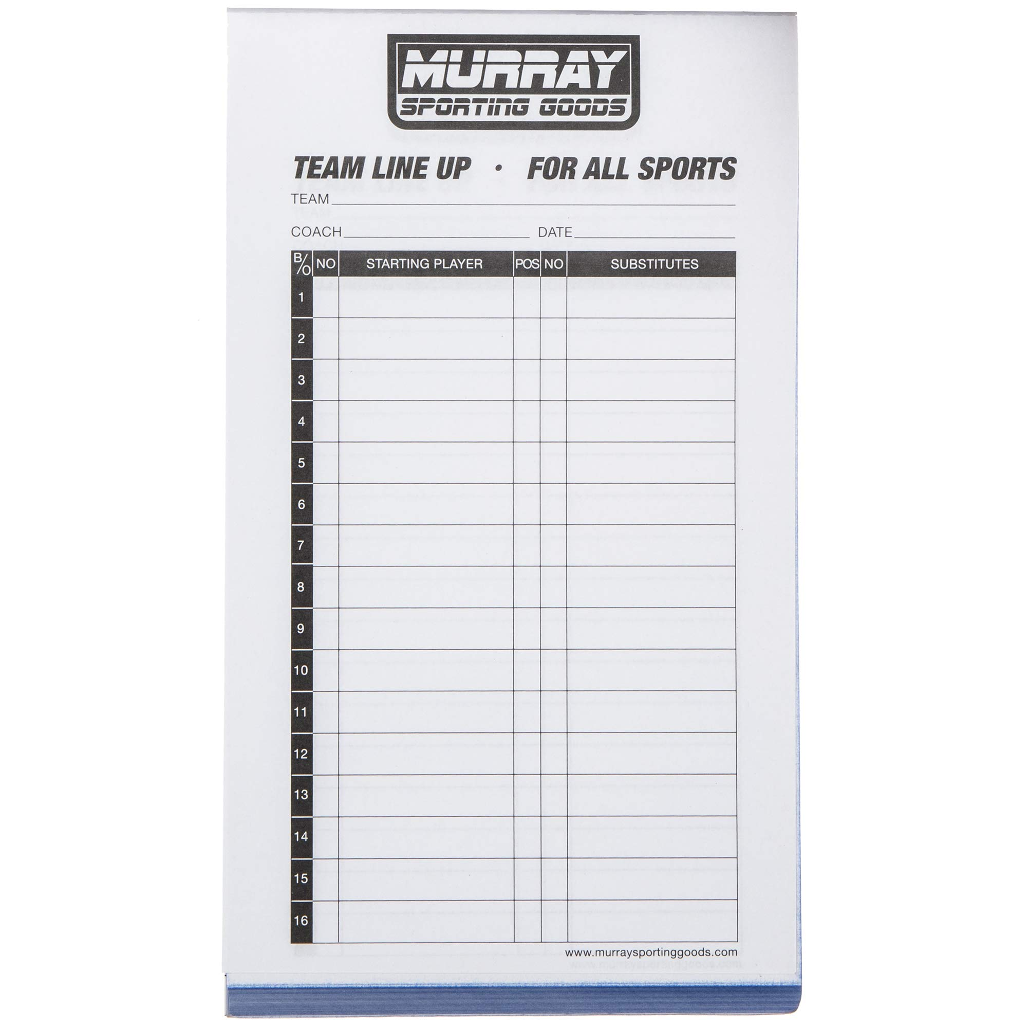 Murray Sporting Goods Baseball/Softball Lineup Cards - 22 Games with 22  Player Lineup In Baseball Lineup Card Template