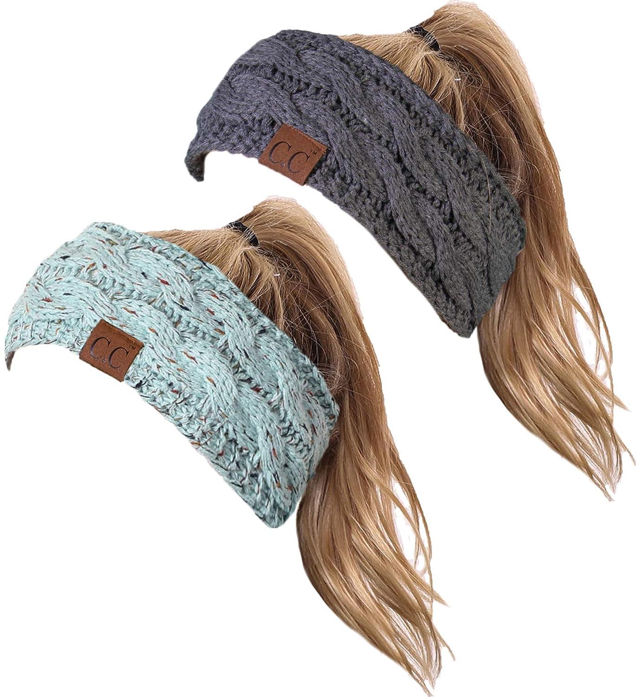 HW-6033-2-54-20a70 Headwrap Bundle - Confetti Mint, Solid Charcoal(2 Pack)