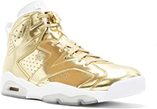 Nike Mens Air Jordan 6 Retro Pinnacle Metallic Gold/White Leather