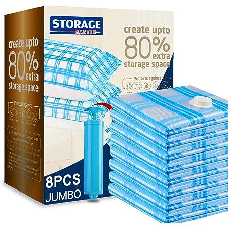 8 X VACUME VAC VACUUM STORAGE BAGS 60cm X 45cm SPACE SAVER  Storage Medium