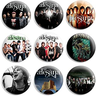 Alesana Pinback Buttons Pin Badges 1 Inch (25mm) - Pack of 9