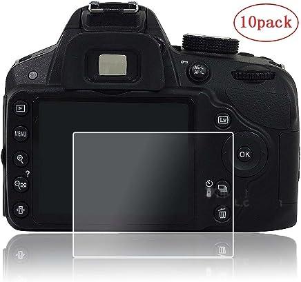 PCTC Screen Protector Foil Compatible for Nikon D3500 D3100 D3200 D3300 D3400 Tempered Glass Anti-Scratches Anti Bubble Anti Fingerprint (10 Pack)