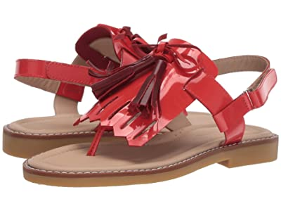 Elephantito Boho Chic Sandal (Toddler/Little Kid/Big Kid) (Patent Red) Girls Shoes