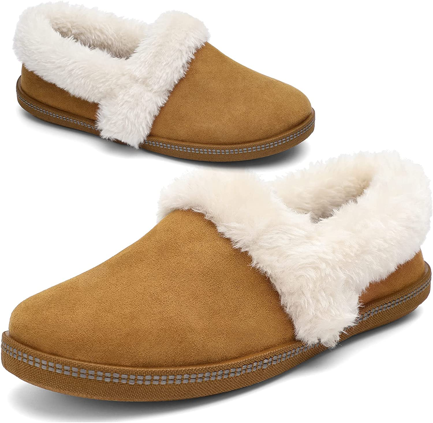 STQ Womens Fuzzy Slippers Indoor Outdoor Challenge the lowest price of Japan Seattle Mall Cozy Warm Foam Memory