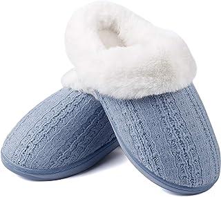 Pantuflas suaves de espuma viscoelástica para mujer, zapatos de casa, dormitorio, hogar, interiores y exteriores, sin cord...