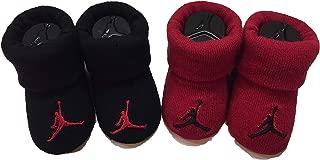 Nike Jordan Newborn Baby Booties 0-6 Month (Red/Black)