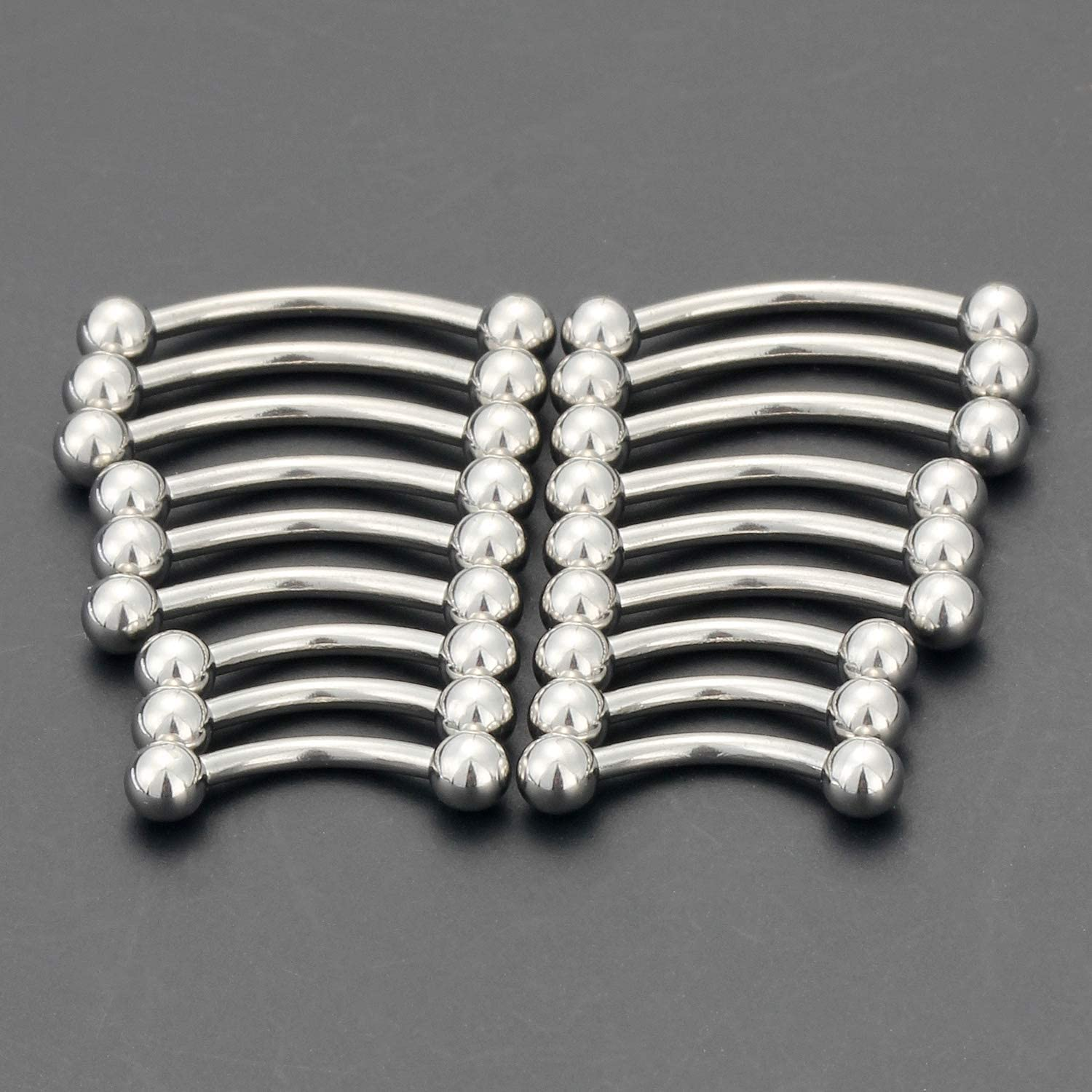 SCERRING 18-36PCS 16G Stainless Steel Eyebrow Tragus Helix Rook Daith Earrings Tongue Nipple Belly Lip Ring Barbell Body Piercing Jewelry 6-16mm
