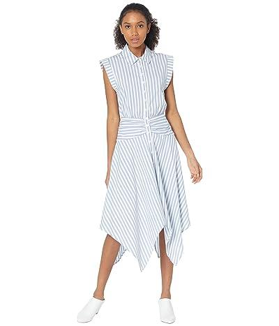 BCBGMAXAZRIA Stripe Hanky Hem Day Dress