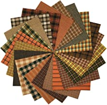40 Autumn Spice Charm Pack, 5 inch Precut Cotton Homespun Fabric Squares by JCS