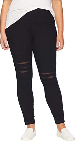 Plus Size Slashed Leggings