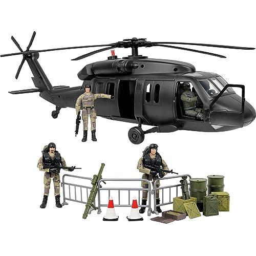 NEWRAY MILITARY MISSION PLAYSET 1:60 SIKORSKY UH-60 BLACK HAWK VEHICLE /& SOLDIER