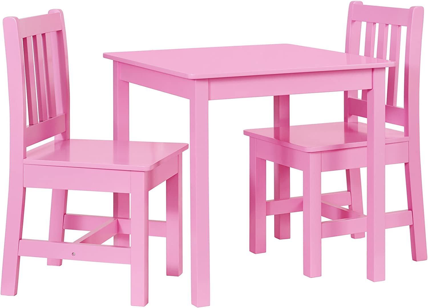 Linon  Table Chair Set, Pink