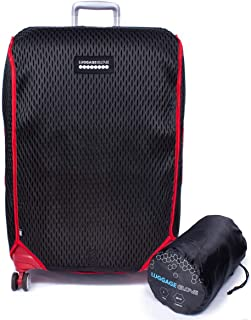 Luggage Glove 3D-Mesh Suitcase Protector Cover with TSA Approved Lock | Large 27-30 inch | Red