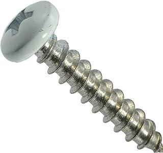 Hard-to-Find Fastener 014973208219 White Pan Shutter Screws, 10 x 1 White, Piece-25