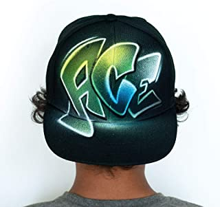a0abc5e3202 Airbrushed Snapback hat with your custom name